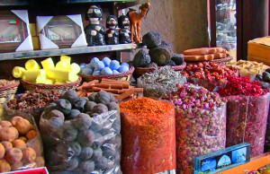 Spices in souk of Dubai